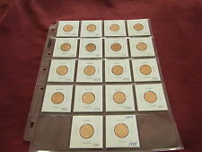 2 cent set 1970,1971, 1972,1973,1974,1975,1976,1977 to 1988,1989 from MINT ROLLS
