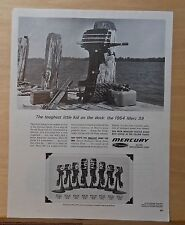 1963 magazine ad for Mercury Outboard engines - '64 Merc 39, Silver Anniversary