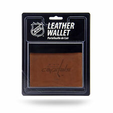 Washington Capitals NHL Embossed Brown Leather Trifold Wallet