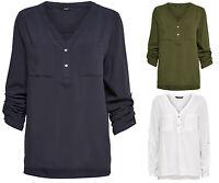 ONLY Damen Bluse Hemd Tunika NOVA SHIRT Langarmbluse vokuhila Longbluse Business