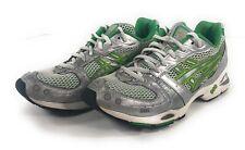 Asics Gel Nimbus Running Shoes Womens 9.5 Sneakers Green Silver TN579