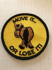 NOS Vintage Patch Move It Or Lose It Rat Hot Rod Motorcycle Jacket Snowmobile