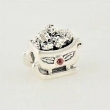FATHER CHRISTMAS SANTA'S SLEDGE Charm Bead 925 Sterling Silver