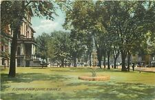 Newark OH~Etherington Lynching Site~Fountain~Court House Square~Rotograph~c1910