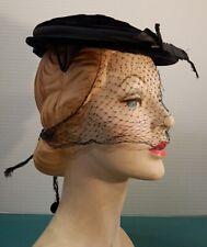 3ecdc0d250cc6 Fascinator Black Velvet Vintage Hats for Women for sale