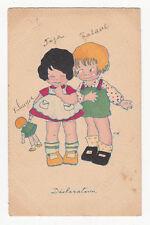 *** Enfant / Fillette _ Déclaration *** Illustrateur ??? - 1928 - CPA 0489