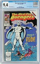 West Coast Avengers #45 1989 CGC 9.4 NM 1st appearance White Vision