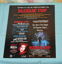 vintage TWE ADVERTISING BROCHURE Maniac Cop Clash of The Ninja Absolution