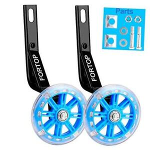 Bicycle Training Wheels Heavy Duty Rear with Stabilizers 20Inch Blue Wheels