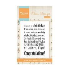 Marianne Design Clear Stamp - Song Today is A Birthday CS0965