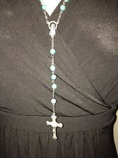 Light Blue colour rosary beads NEW, Blessed in Fatima