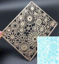 Rectangle Sunflower Metal Cutting Dies Stencil Scrapbooking Card Embossing Craft