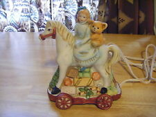 CLASSIC LIVING CHRISTMAS COLLECTION Girl Riding Pony Porcelain Night Light