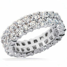 Gold Eternity Band Size 4, G Si1 3.00 ct Double Round cut Diamond Ring 14k