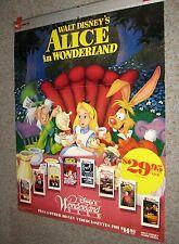 RARE Walt Disney's ALICE IN WONDERLAND  original video promo WALL POSTER 31x37