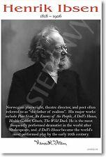 Henrik Ibsen - Norwegian Playwright Poet Author -  NEW Famous Person POSTER