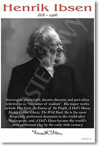 Henrik Ibsen - Norwegian Playwright Poet Author -  NEW Famous Person POSTER
