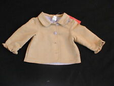 NWT GYMBOREE COWGIRLS AT HEART FAUX SUEDE COAT JACKET 6-12 M