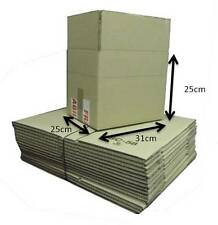 Pack of 15 Double Walled Cardboard Mailing Boxes Brown 25 x 31 x 25cm