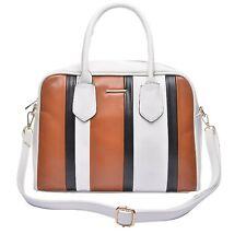 On Trend Ladies Large Bag Faux Leather Handbag Fashion Tote Long Strap UK STOCK
