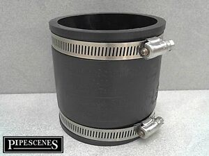 Grey Marley Straight Coupling Rubber Seal Ring 82mm Single Socket SE300