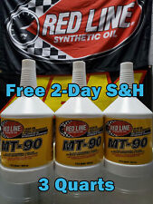 Red Line Synthetic Max Gear Transmission Oil MT-90 GL-4 75W90 3 QUARTS PN 50304