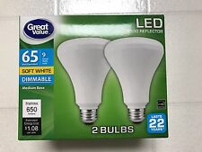 LED BR30 65W = 9W Soft White 65 Watt DIMMABLE 2700K R30 Flood 10-Pack