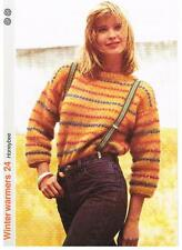 HONEYBEE knitting pattern - ladies sweater Marshall Cavendish pamphlet WW24