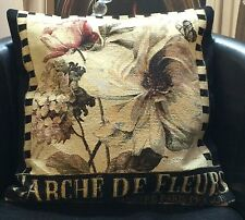Flowers On Tapestry Style Evans Lichfield Cushion Cover