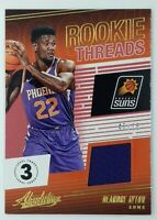 2018 Panini Absolute Mem Rookie Threads Level 3 DeAndre Ayton RC #RT-DAY, #'d/75