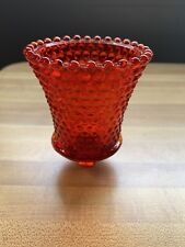 Red Hobnail Pegged Votive Cup/Candle Holder - Homco