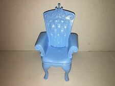 Barbie Blue Chair Princess and the Pauper Quilted Throne Dining Queen (6)
