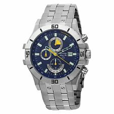Bulova Marine Star Blue Dial Silver Tone Men's Watch 96B115 SD