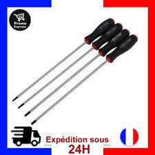 Neilsen Lot de 4 tournevis Torx Etoile CT2899 T15/T20/T25/T30-250mm Extra longs