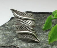 Leaf wrap ethnic textured Pure 925 Sterling Silver wrap ladies Ring adjustable