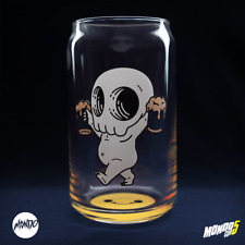 BRAND NEW Mike Mitchell Skully Beer Glass Mondocon 5 12 oz Limited Edition LE