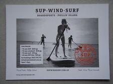 Sup Wind Surf Boardsports Phillip Island Supwindsurf Brochure Postcard