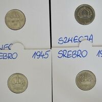 1941-1949 10 Ore - LOT OF 4 SWEDEN COINS - Silver - Very Good Condition