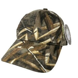 Real Tree Mens Camo Max 5 Cap One Size Brown/Green Adjustable Closure New