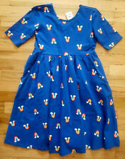 NWT HANNA ANDERSSON SUPER TWIRL SKATER DRESS BLUE RAINBOWS 130 8 NEW!