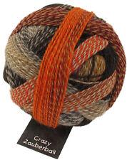Crazy Zauberball 100g  Schoppel Farbe 2092 Schokoladenseite Wolle Sockenwolle