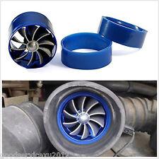 Car SUV Van Air Intake Fuel Gas Saver Single Fan Engine Enhancer Turbo Kit Blue