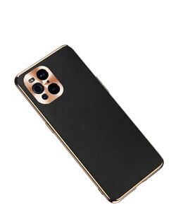For OPPO Find X3 Pro/Neo/Lite Luxury Genuine Leather + Metal Back Case
