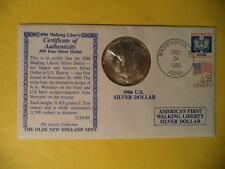 1986 American Silver Eagle in Original Mailing Envelope