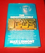 """The Indestructible Jews""  Max Dimont  *1971* 1st Edition Review Copy*"