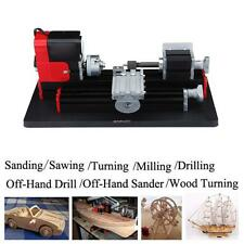 CNC Motorized Mini Metal Lathe Machine For Teaching or DIY speed 20000 rev/min