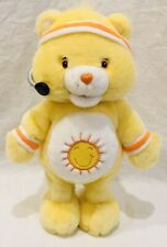Care Bears Yellow Funshine Bear 2004 Workout Fitness Singing Talking Sun Dancing