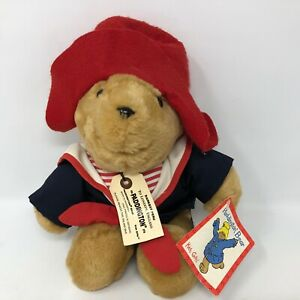 """VTG NWT Paddington Bear 15"""" Darkest Peru EdenToys Plush Sailor Outfit Hat Sail"""