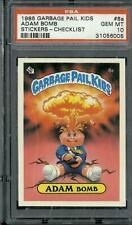 1985 GARBAGE PAIL KIDS ADAM BOMB 8a CHECKLIST Matte PSA 10 GEM 1st series 1 OS1