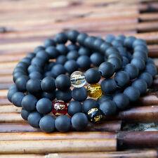 Bracciale Mala Tibetano pietre dure Rosario Buddista Mantra Buddha Ideogramma